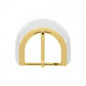 Fivela Ouro com Aplique Transparente 64mm