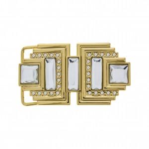 Fivela Ouro com Strass 85mm