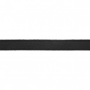 Tira Chata Preta com Costura 10mm