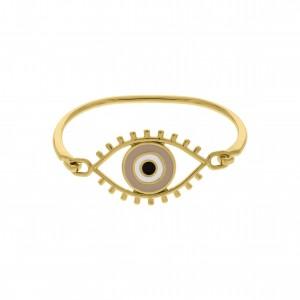 Base para Pulseira Olho Grego Ouro com Resina 69mm