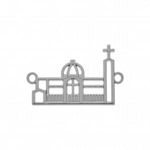 Pingente Igreja Níquel 39mm