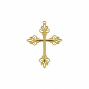 Pingente Cruz Ouro 60mm