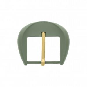 Fivela com Pintura Verde e Pino Ouro 57mm