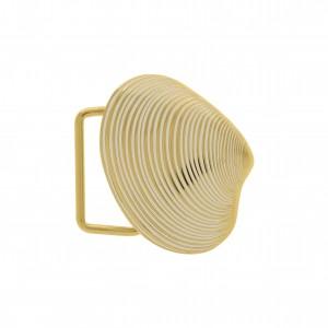 Fivela Concha Ouro com Pintura Camélia 50mm