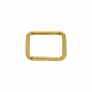 Argola para Bolsa Quadrada Ouro 33mm