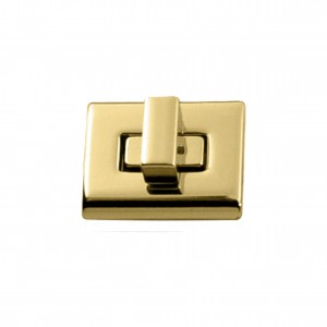 Fecho para Bolsa Quadrado Ouro 30mm