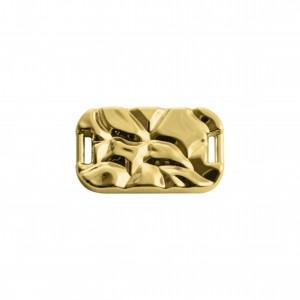 Passa Tira Retangular Ouro 27mm