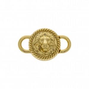 Fechamento Imã Leão Ouro 23mm