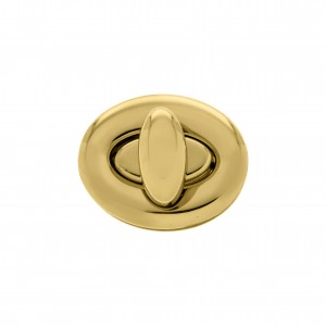 Fecho Oval Ouro 38mm para Bolsa