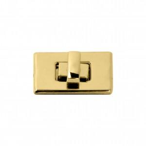 Fecho Retangular Ouro 31mm para Bolsa