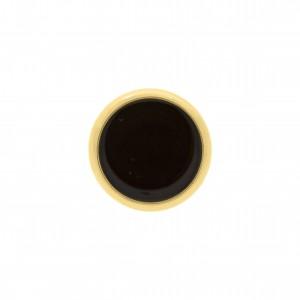 Botão Redondo Para Costura Ouro com Resina Preta 22mm