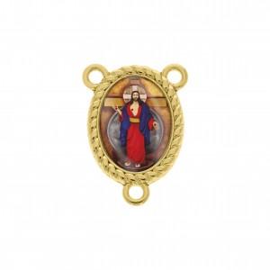 Pingente Escapulário Ouro Jesus das Santas Chagas 26mm