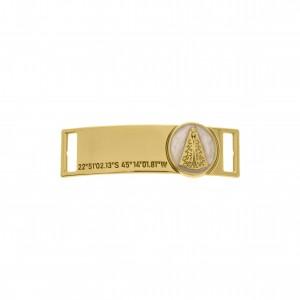 Bridão Nossa Senhora Ouro com Resina Pérola 51mm