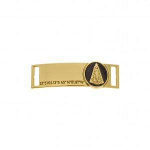 Bridão Nossa Senhora Ouro com Resina Preta 51mm