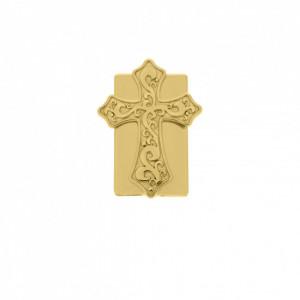 Fechamento Imã Retangular Cruz Ouro 24mm