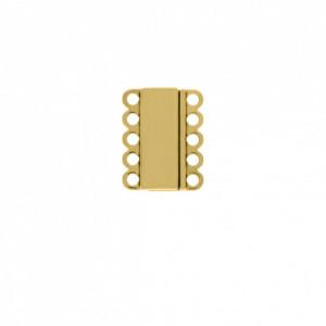 Fechamento Imã Retangular Ouro 18mm