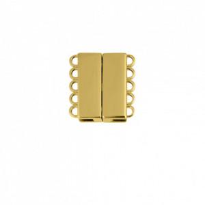 Fechamento Imã Retangular Ouro 21mm