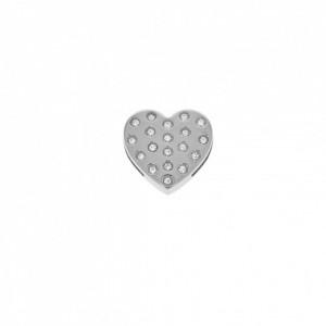 Passador Coração Níquel 24mm