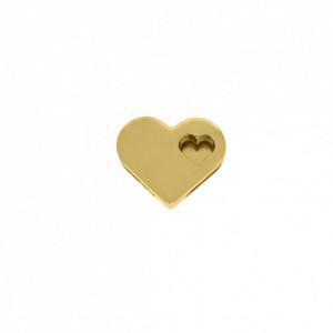 Passador Coração Ouro 17mm