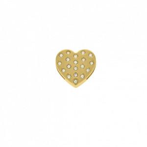 Passador Coração Ouro 24mm