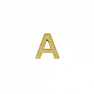 Passador Letra A Ouro 13mm