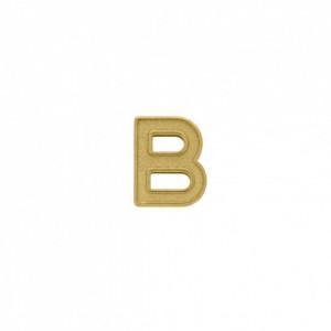 Passador Letra B Ouro 13mm