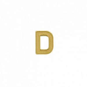 Passador Letra D Ouro 13mm
