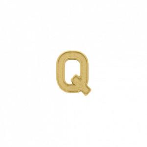 Passador Letra Q Ouro 13mm
