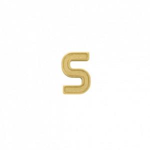 Passador Letra S Ouro 13mm