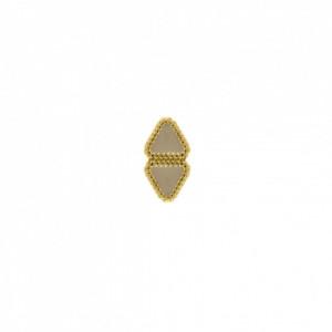 Passador Retangular Ouro 17mm