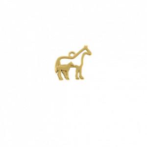 Pingente Ouro Cavalos 19,5mm