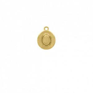 Pingente Ouro Chapéu 16mm