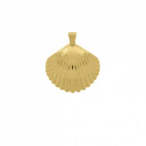 Pingente Ouro Concha Texturizada 43mm