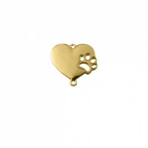 Pingente Ouro Coração Pet 25mm