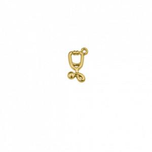Pingente Ouro Estetoscópio 18mm
