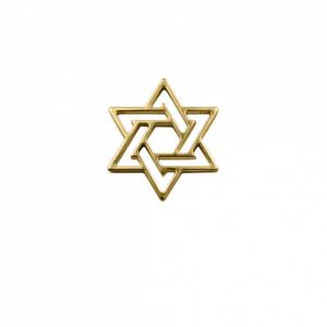 Pingente Estrela de Davi Vazada Ouro 32mm