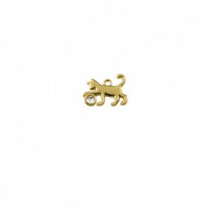 Pingente Ouro Gato 21mm