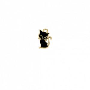 Pingente Ouro Gato 19mm