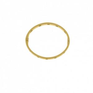 Base para Pulseira Vazada Ouro 68 mm