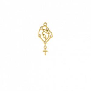Pingente Ouro Santa Maria 35mm
