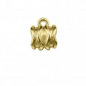 Berloque Redondo Texturizado Ouro 10mm